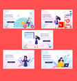 ecommers investor on landing page vector image vector image