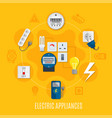 electric appliances round design vector image