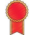 empty award ribbon vector image vector image