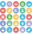 Fashion Colored Icons 9 vector image vector image