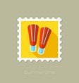 Flippers flat stamp with long shadow vector image vector image