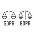 gdpr libra line and glyph icon privacy and vector image vector image