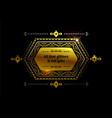 gold ethnic frame background vector image vector image