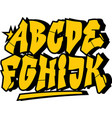 Graffiti style font type alphabet part 1 vector image vector image