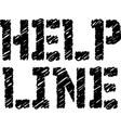 help line typographic stamp vector image vector image