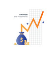 Index fund investment concept budget spending vector image