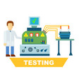 industrial product testing isolated concept vector image vector image