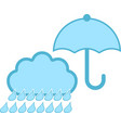 isolated rainy weather icon with an umbrella vector image