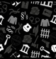 justice and law gray seamless pattern eps10 vector image vector image