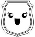 kawaii shield icon vector image vector image