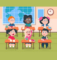 kids in classroom cartoon children in school vector image