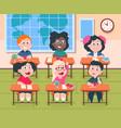 kids in classroom cartoon children in school vector image vector image