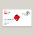 letter wax seal mailing postal address mail post vector image
