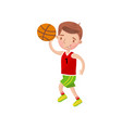 little boy playing basketball kids physical vector image