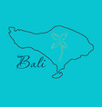 map of bali thin line vector image vector image