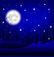 Moon night landscape vector image