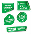 natural organic products green collection of label vector image vector image