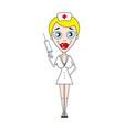 nurse work hospital vector image vector image