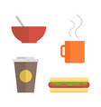 Office Lunch Set vector image vector image