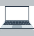 open laptop with white screen laptop layout in vector image vector image
