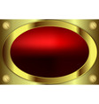 Oval frame gold color vector image