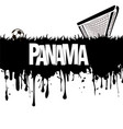 panama with a soccer ball and gate vector image vector image
