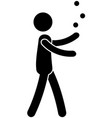 person juggling with balls vector image