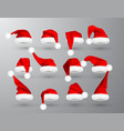 red santa claus hat isolated on gray background vector image