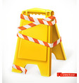 safety sign caution wet floor sign 3d icon vector image vector image