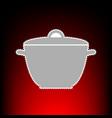 saucepan simple vector image vector image