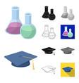 school and education cartoonblackflatmonochrome vector image vector image