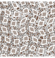 seamless pattern of hand-drawn lines vector image vector image