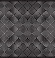 seamless pattern with white squares on a black vector image vector image