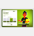 self presentation indian male introduce vector image