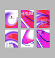 Set for purple cover design vector image vector image