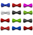 Set of multicolored bow tie vector image vector image