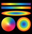 Set of rainbow gradients Radial Ellipse linear vector image