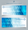 set of template banner web geometric hexagon vector image
