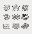set of vintage baseball logos vector image