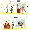 set radio people symbols icons in flat vector image vector image