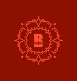 Simple Monogram B vector image