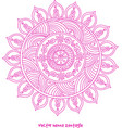 tattoo henna mandala vector image