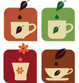 tea and coffe e vector image vector image
