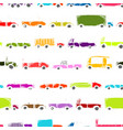 Toy cars collection seamless pattern for your vector image vector image