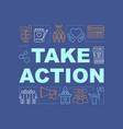volunteer action word concepts banner vector image vector image
