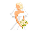 wedding beautiful bride vector image vector image