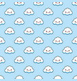 white funny clouds smile background texture vector image