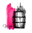 wine degustation concept in hand drawn design vector image