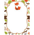 woodland card vector image vector image