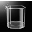 Whiskey shot glass vector image